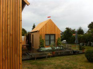 træbeklædt hus
