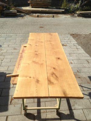 Bordplanker til plankeborde i egetræ